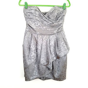 H&M Silver Strapless Party Cocktail Dress